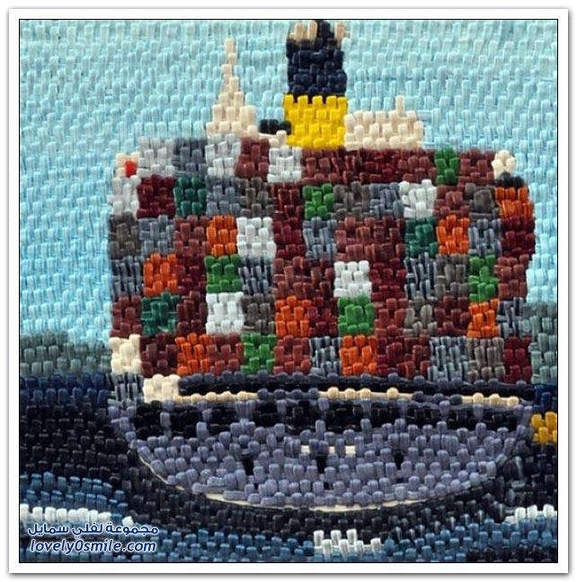 فن رسم السفن بالخيط والإبرة