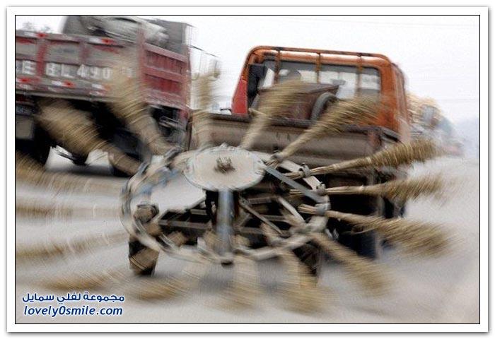 فقط في شوارع الصين