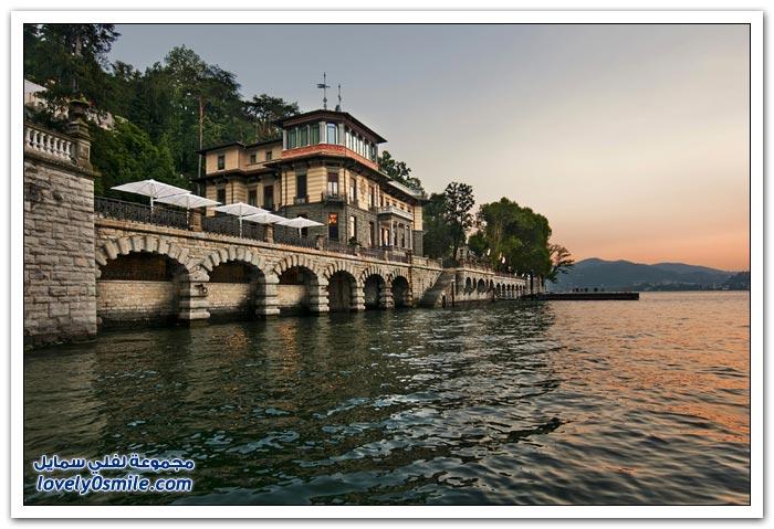 منتجع على ضفاف بحيرة كومو في إيطاليا