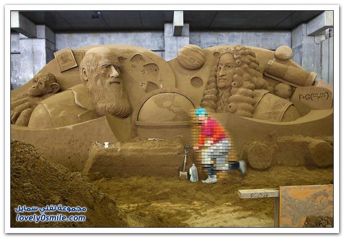 معرض المنحوتات الرملية في بريطانيا
