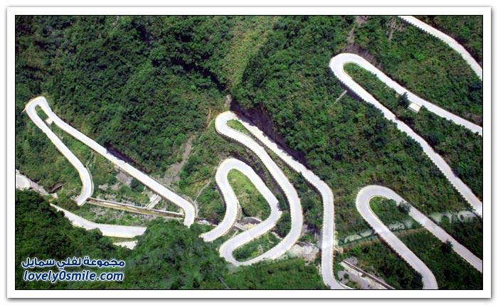 طريق البوابة الكبيرة، في جبل تيانمن في اقليم هونان في الصين