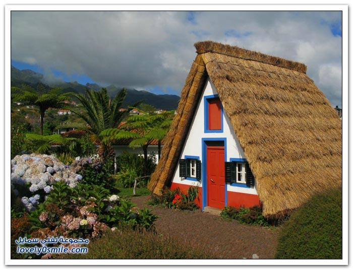 المنازل التقليدية في منطقة سانتانا البرتغالية