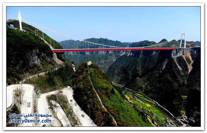 افتتاح أعلى جسر معلق في العالم
