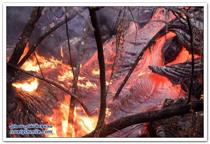 صور من بركان كيلاوي أنشط بركان في العالم