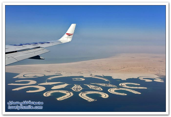 صور من الطائرة في رحلة من البحرين إلى