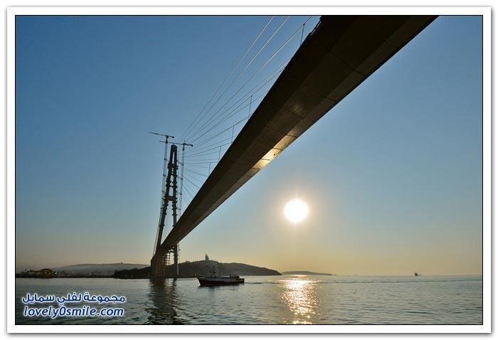 جسر جزيرة فلاديفوستوك الروسية