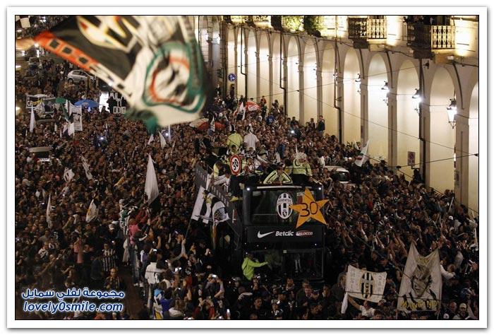 احتفال يوفنتوس بلقب الدوري الإيطالي