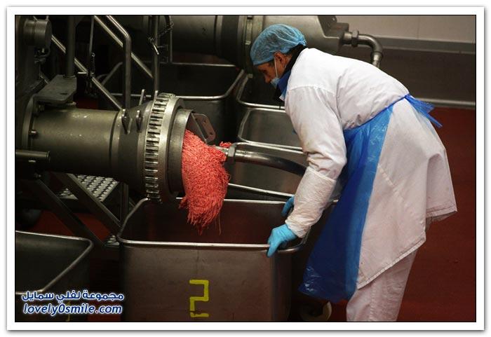 تُجهيز اللحوم لمطاعم الوجبات السريعة فى روسيا
