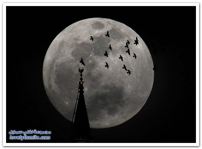 القمر في أوضح رؤيا له في بقاع الأرض