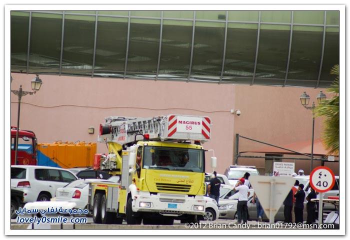 صور حريق مجمع فيلاجيو في الدوحة - فيديو