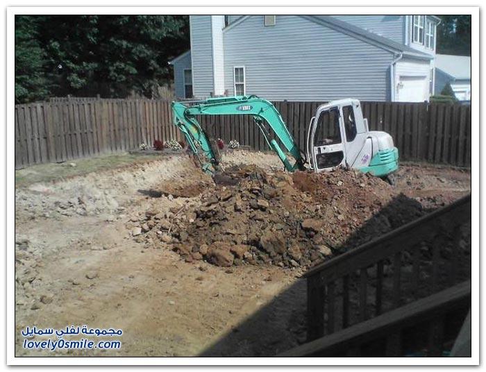 خطوات حفر مسبح في المنزل