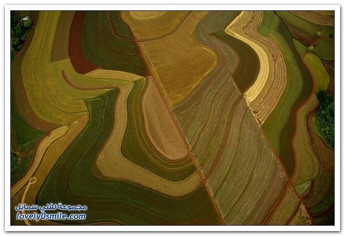 صور رائعة من السماء لمقاطعة سانتا كروز في الأرجنتين