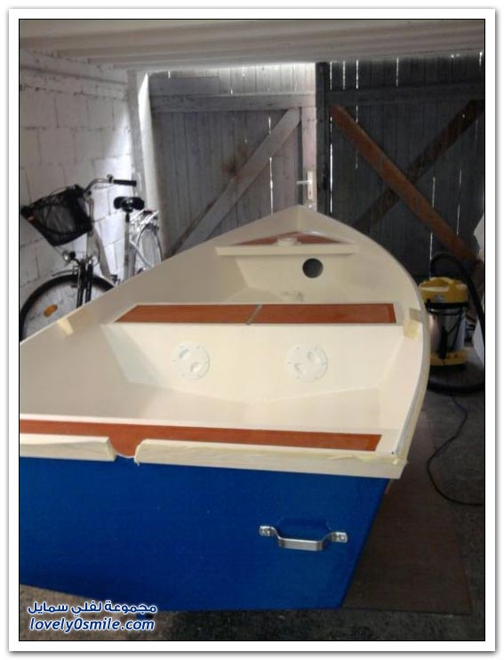 صناعة قارب في المنزل