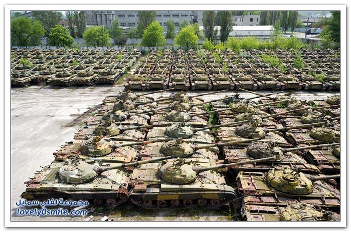 مقبرة الدبابات في روسيا