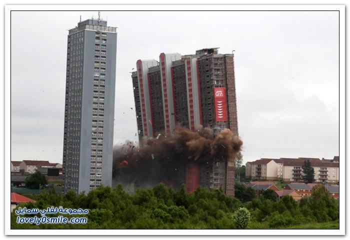 أبراج تُفَجَر و تُهْدَم بسبب أخطاء هندسية
