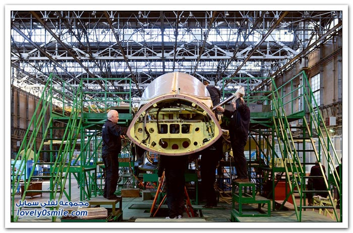 مصنع طائرة SU-34 الحربية في روسيا