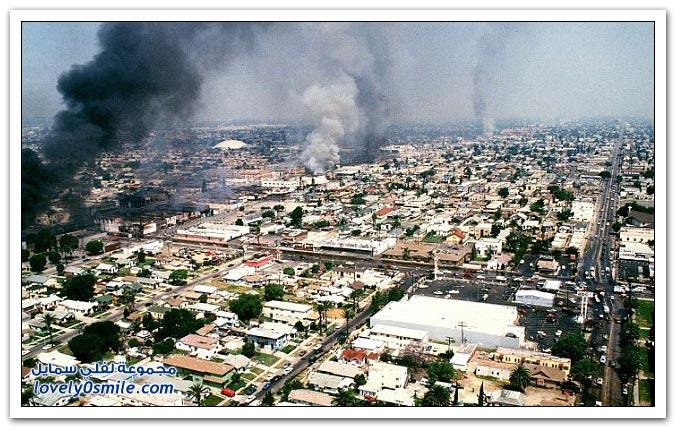 فيديو وصور: وفاة مفجر أحداث شغب لوس انجلوس غرقاً