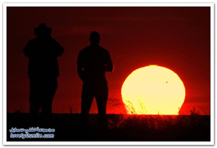 مرور كوكب الزهرة عبر قرص الشمس