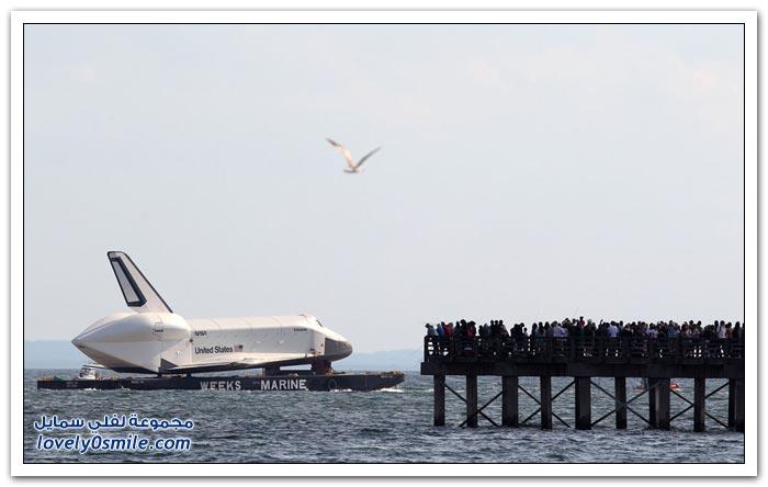نقل مكوك الفضاء انتربرايز لمتحف في نيويورك