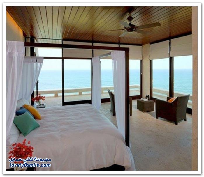 غرف نوم مطلة على مناظر رائعة