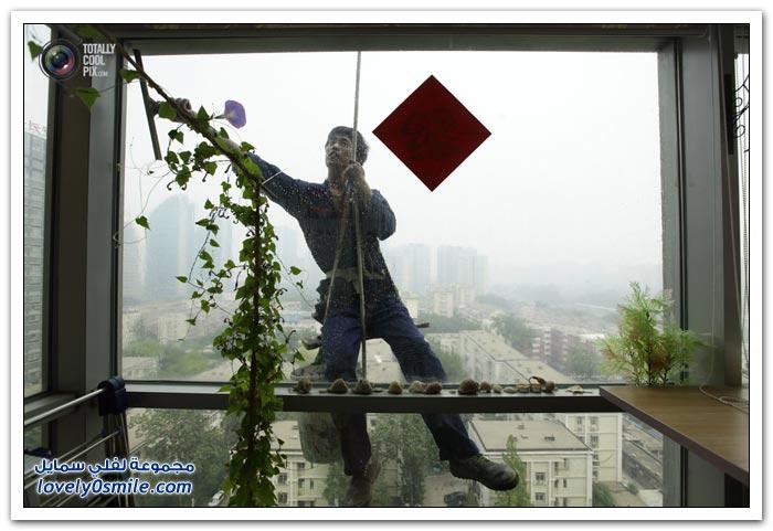 تنظيف نوافذ ناطحات السحاب حول العالم