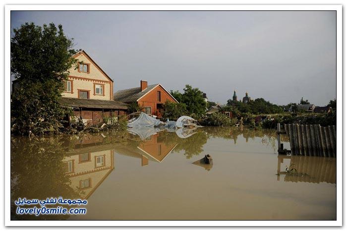 الفيضانات في روسيا