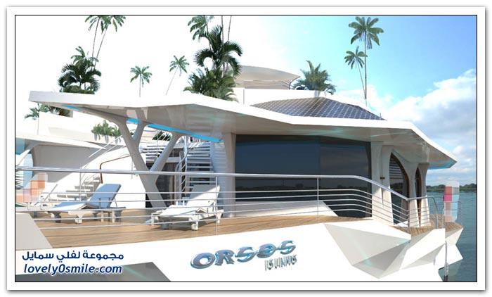 تصميم سفينة على شكل جزيرة