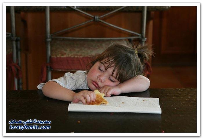 النوم أثناء الأكل
