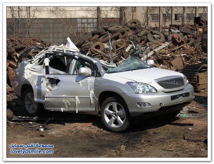 تدمير لكزس في روسيا