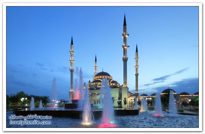 مسجد قلب الشيشان في مدينة غروزني