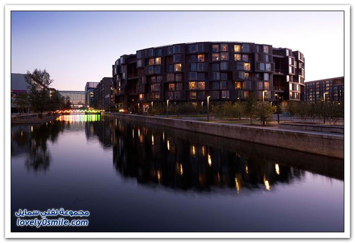 أحد مجمعات بيوت الطلبة الجامعيين في الدنمارك