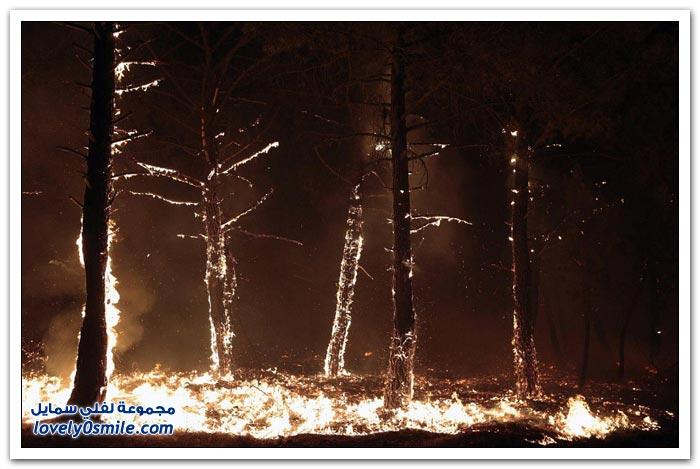 حرائق غابات أسبانيا
