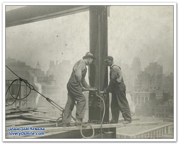 صور من الماضي لكيفية بناء ناطحة سحاب في نيويورك