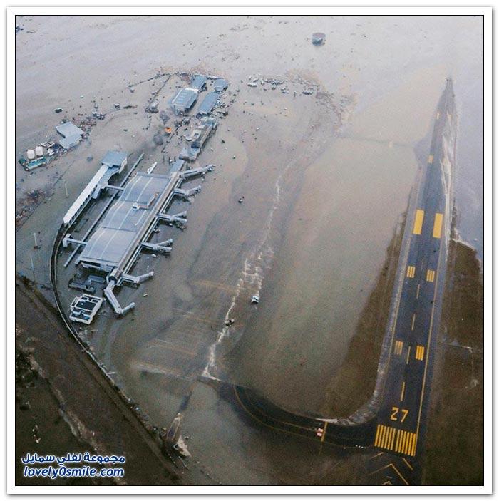 صور مطار سينداي في اليابان أثناء التسونامي وكيف أصبح الآن