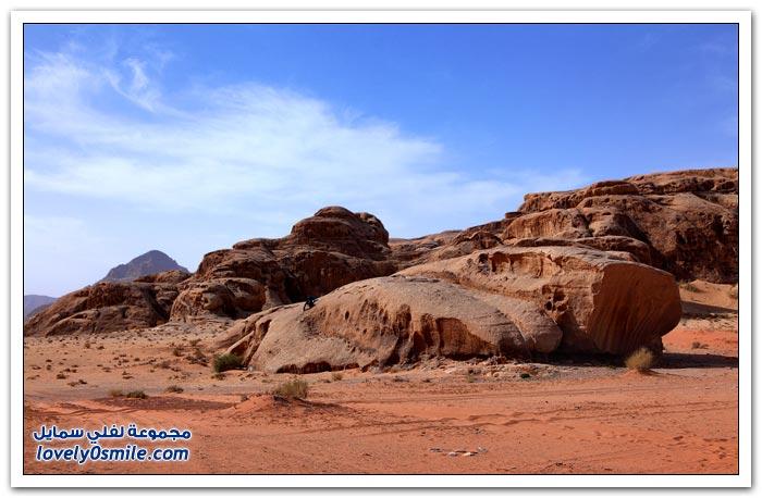 صحراء وادي رم في الأردن