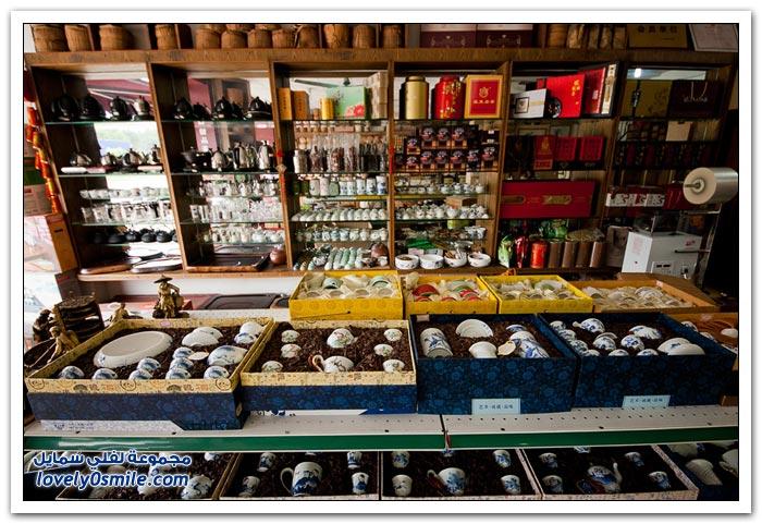 سوق الشاي في مدينة قوانغتشو الصينية