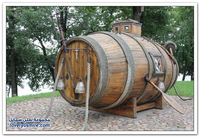 غواصة خشبية صُنعت عام 1721 في روسيا