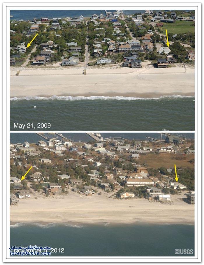قبل وبعد إعصار ساندي ج2