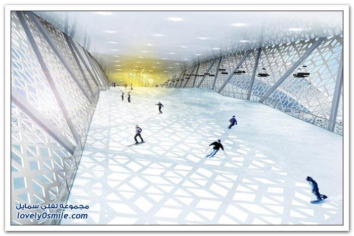 تصميم منتجع للتزلج في الأماكن المغلقة في الدنمارك