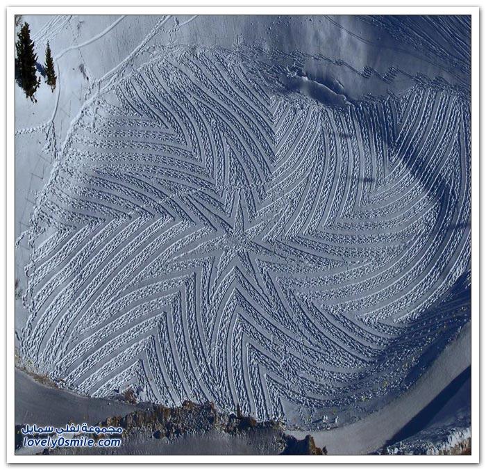 الرسم على الثلوج