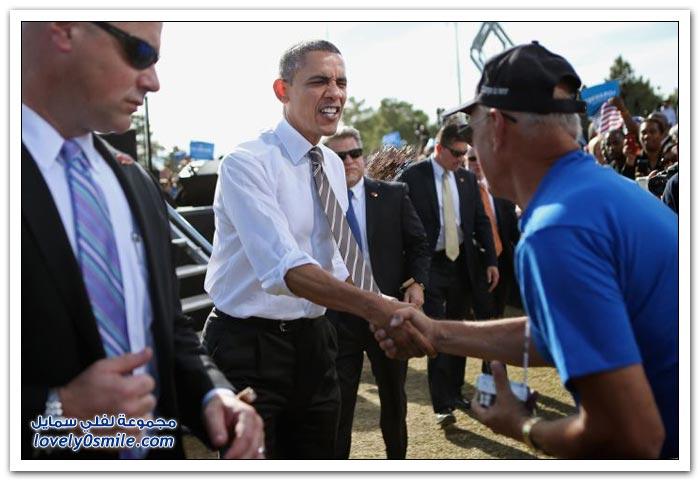 تعباير وجه باراك أوباما