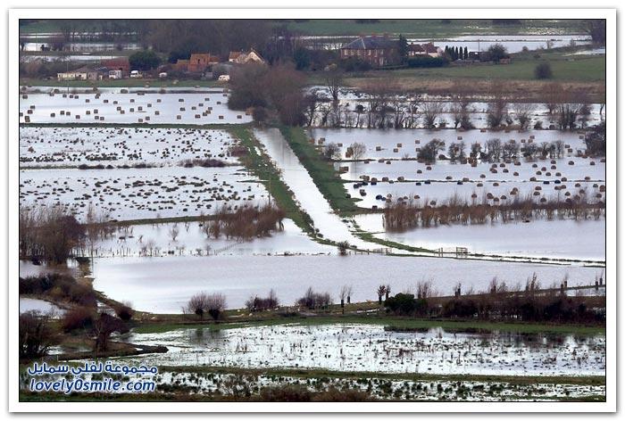 الأمطار الغزيرة والفيضانات في المملكة المتحدة