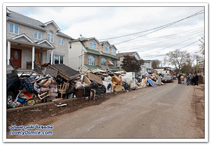 إعصار ساندي بعد أكثر من أسبوع