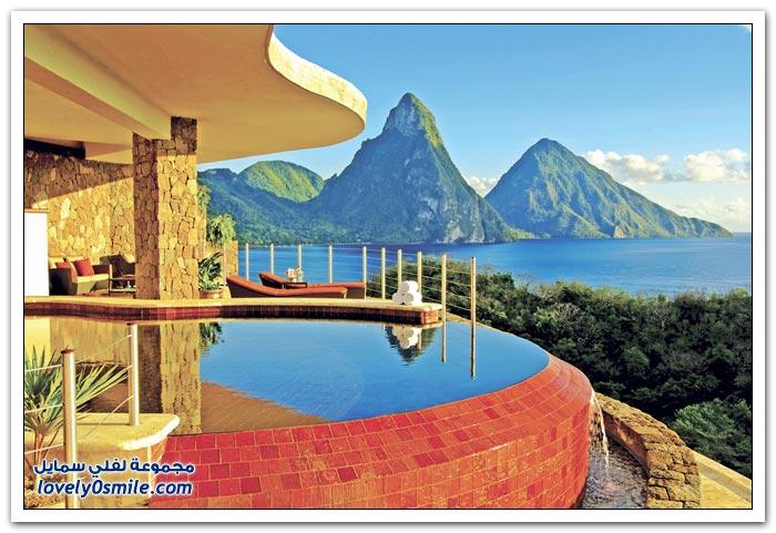 فندق جبل اليشم الفاخر في منطقة البحر الكاريبي