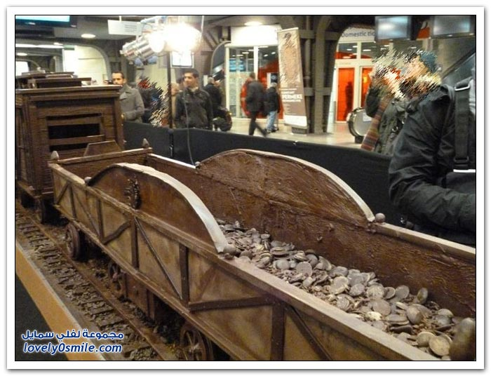 أكبر قطار من الشوكولاته في بروكسل ليدخل موسوعة غينيس