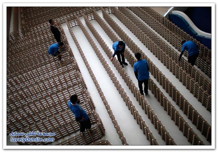 أطول نموذج سكة حديد في العالم في شنغهاي