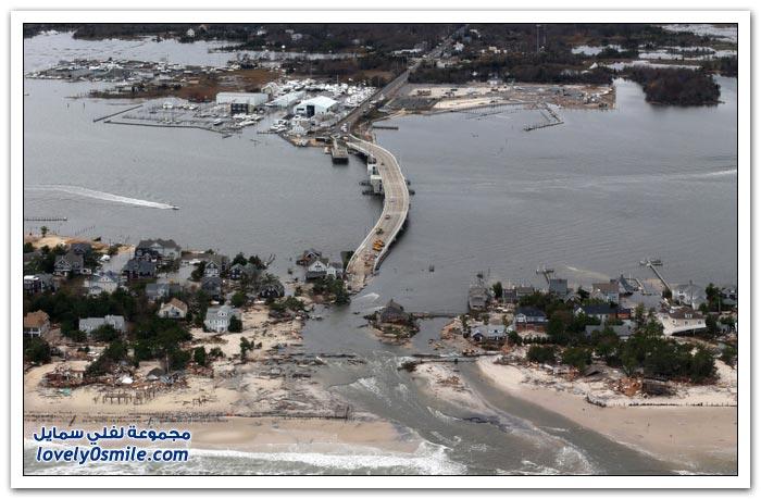 الدمار الذي ألحقه إعصار ساندي