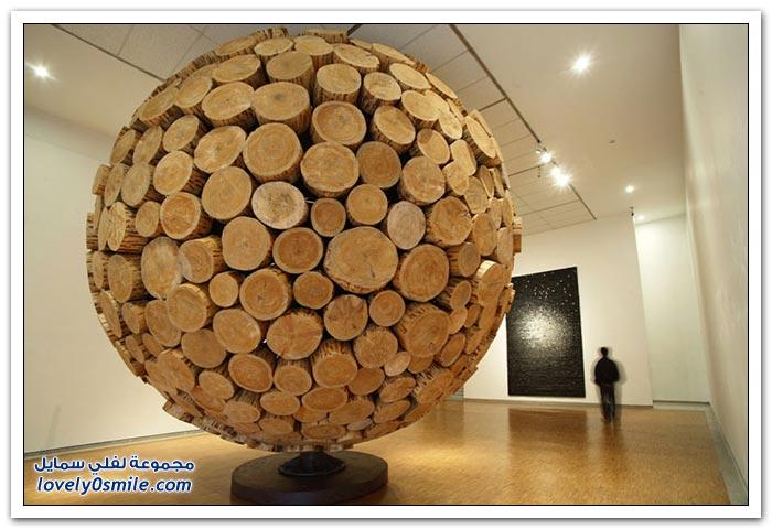 منحوتات خشبية من الكوري لي جاي هيو
