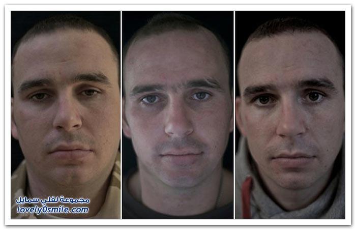 صور لجنود قبل وأثناء وبعد الخدمة في أفغانستان