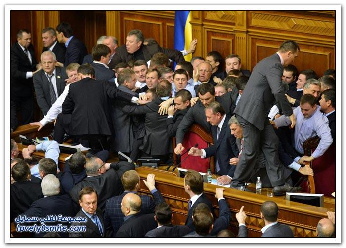 عراك في البرلمان الأوكراني 2012